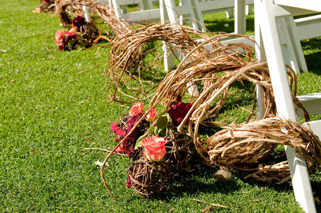 Winery Themed Ailse Decorations