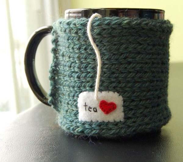 Adorale i heart tea sweater mug