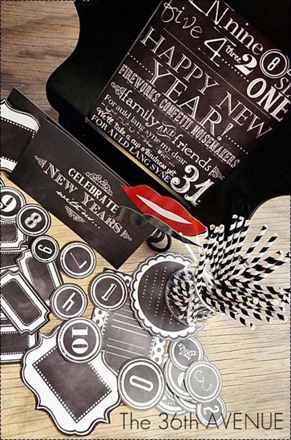 Chalkboard Free Printables for New Years