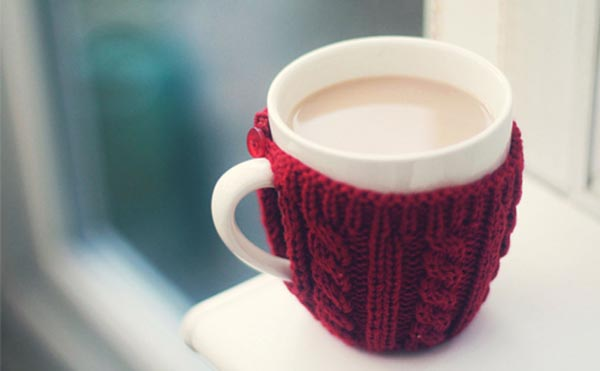 Warm and cozy sweater mugs