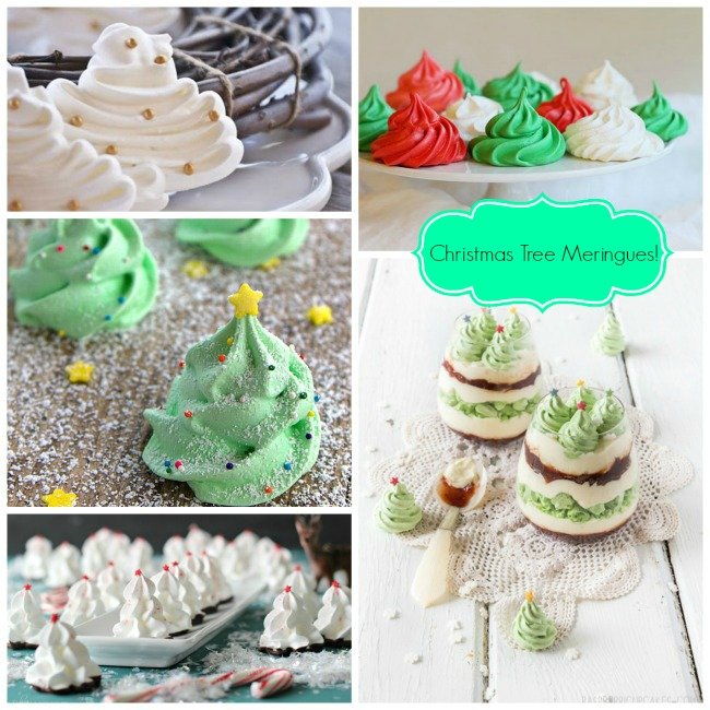 Christmas Tree For 2014: Day 9-Christmas Tree Meringues!