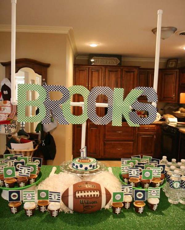 Look how cute this football party it