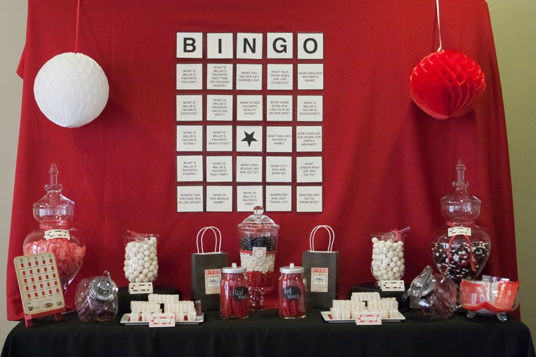 Bingo themed party- so cute