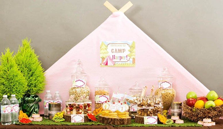 Amazing Breakfast Glamping Party