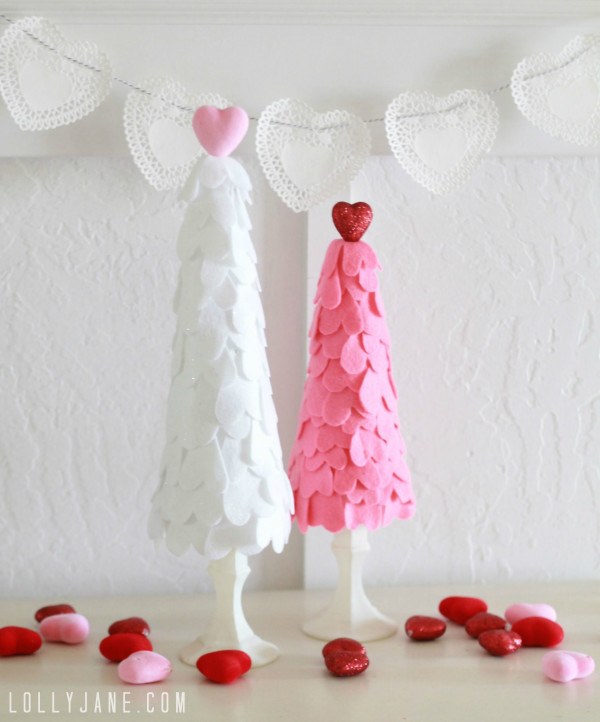 Cute DIY Vaentines Day Trees
