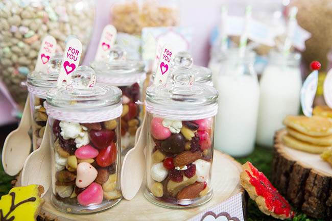 Cute Trail Mix At Glamping Party