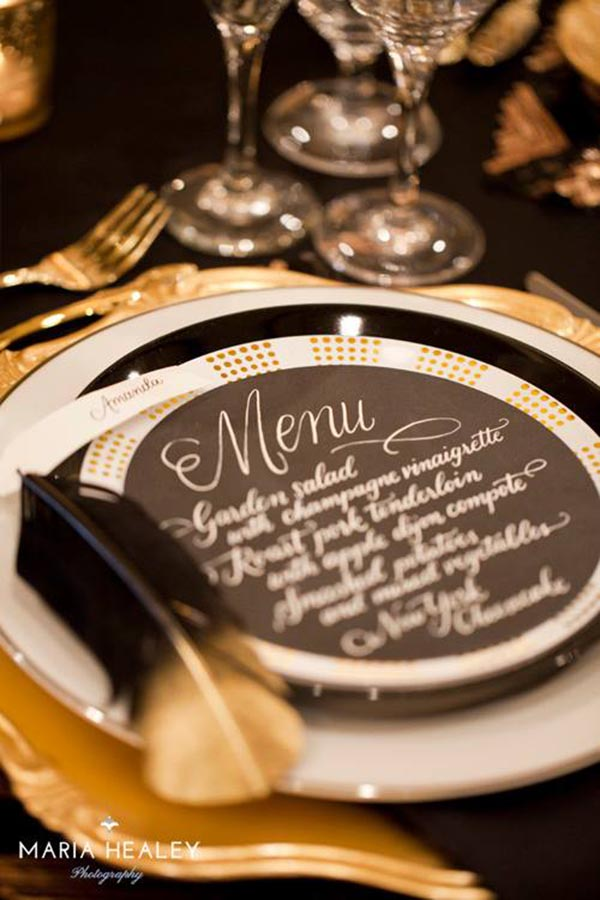 Black and Gold Modern And Elegant Menu card
