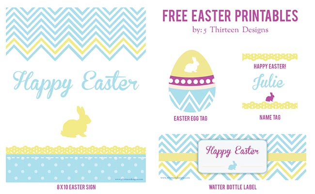 Cute Easter Party Free Printables!