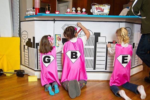 Girls Superhero Coloring poster