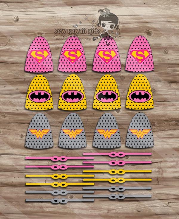 Girls Superhero lollipop decorations
