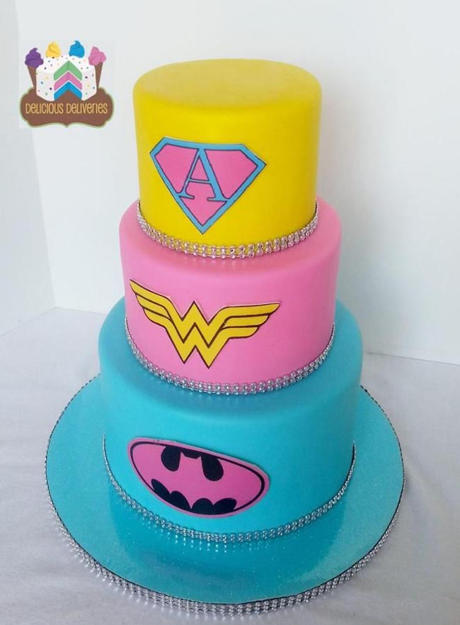 Girls super hero cake idea!