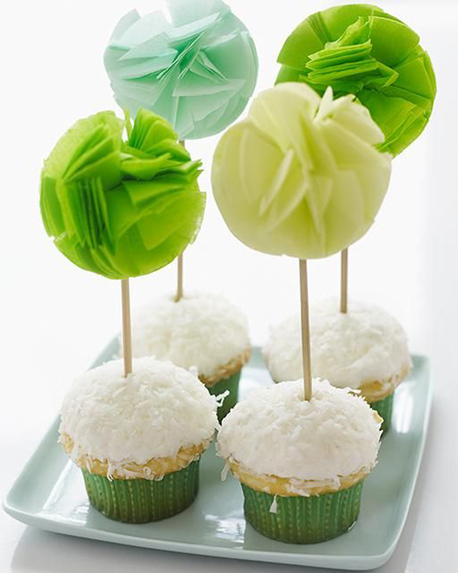 Green Ombre cupcake Toppers For St. Patrick's Day!