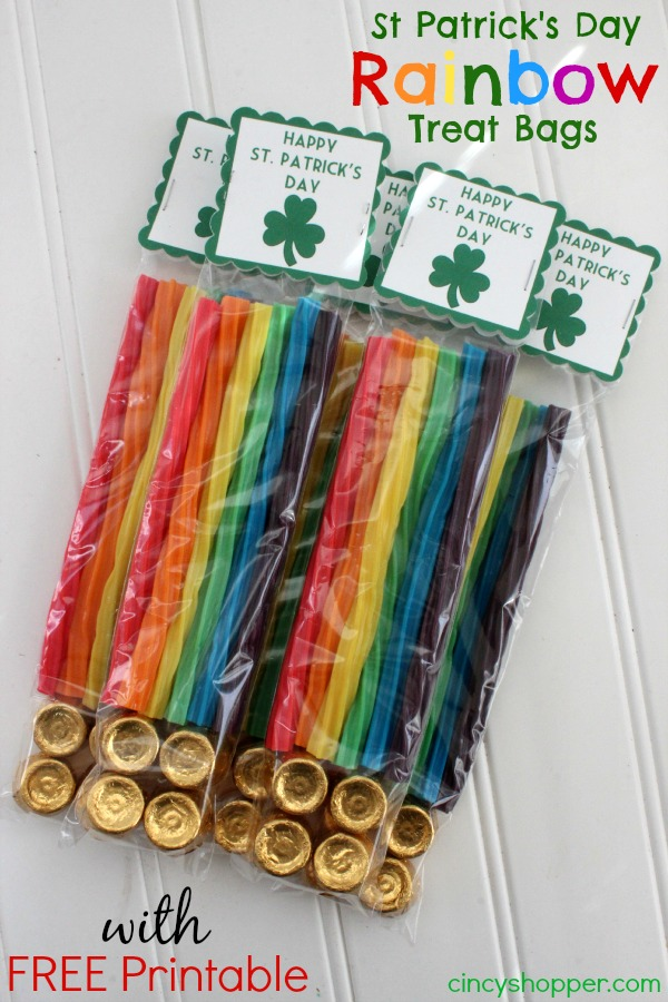 St Patricks Day Rainbow Treat Bags