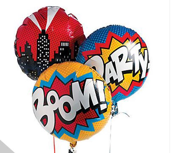 Superhero party balloons