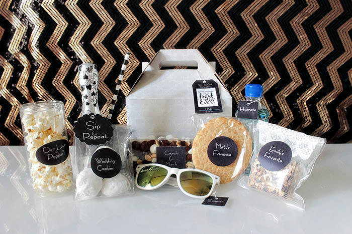 Modern Wedding Welcome Bag