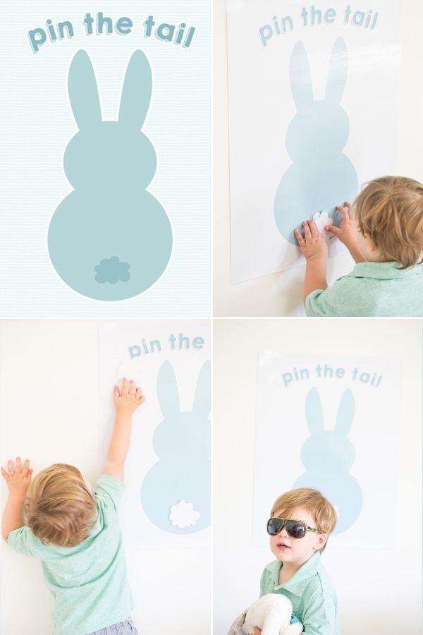 Pin The Tail Bunny Tail Idea