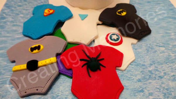 Super Hero Baby Shower Fondant Decorations