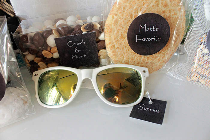 Wedding welcome bag sunglasses!