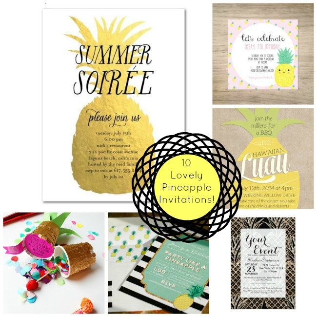 10 Lovely Pineapple Invitations! - B. Lovely Events