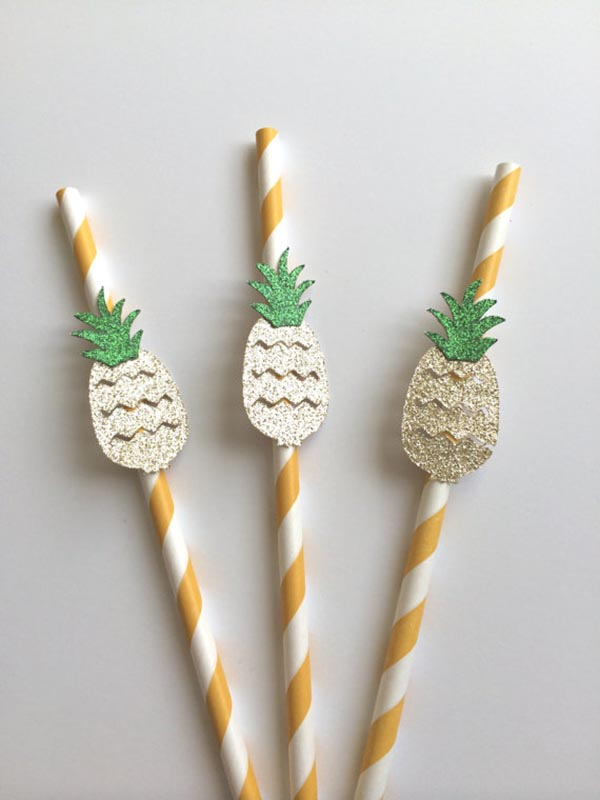 Adorable Pineapple Straws!