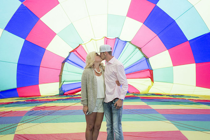 Hot Air Balloon Engagement Shoot- B. Lovely Events