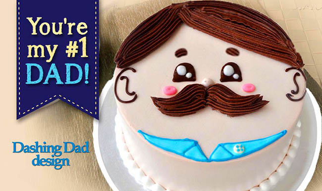 Love this Cute Dad Face Cake!