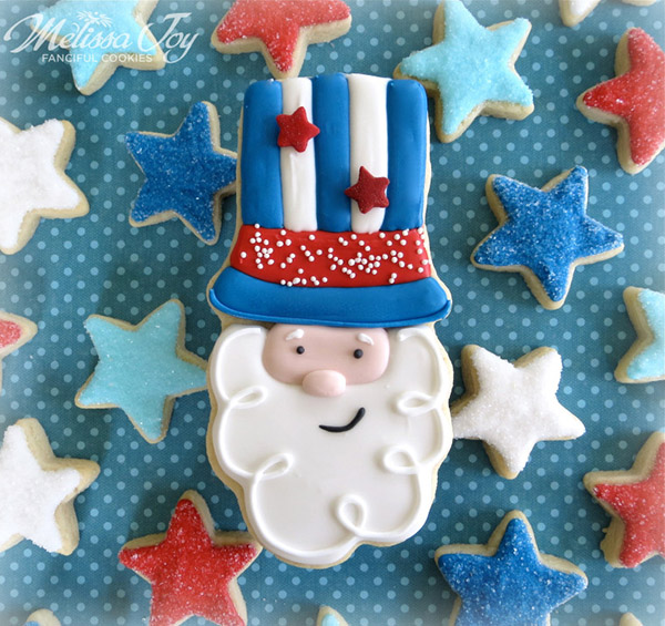 Uncle Sam 4th of july cookies