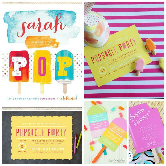 10 Awesome Popsicle Party Invites! - B. Lovely Events