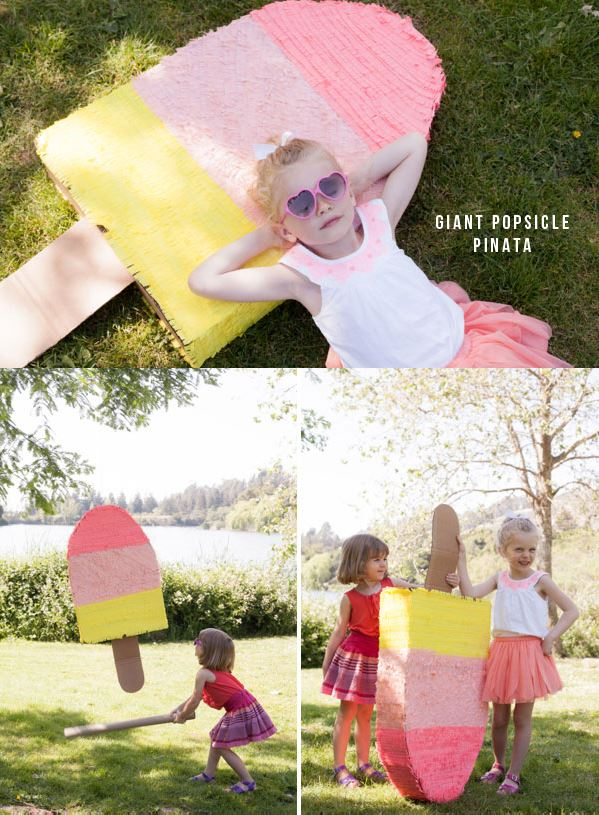 LOVE this idea of a popsicle pinata!