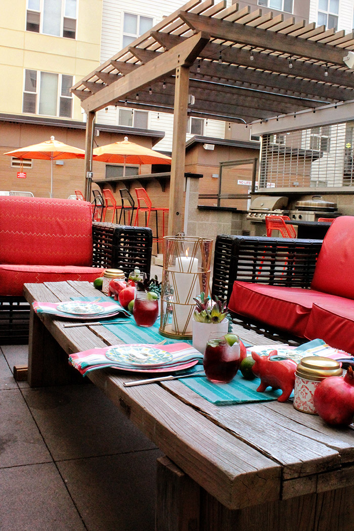 PAMA complete the perfect pool side dinner party! - B. Lovely Events