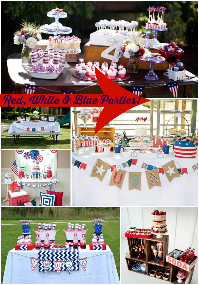 Red, white and blue parties we love! - B. Lovely Events