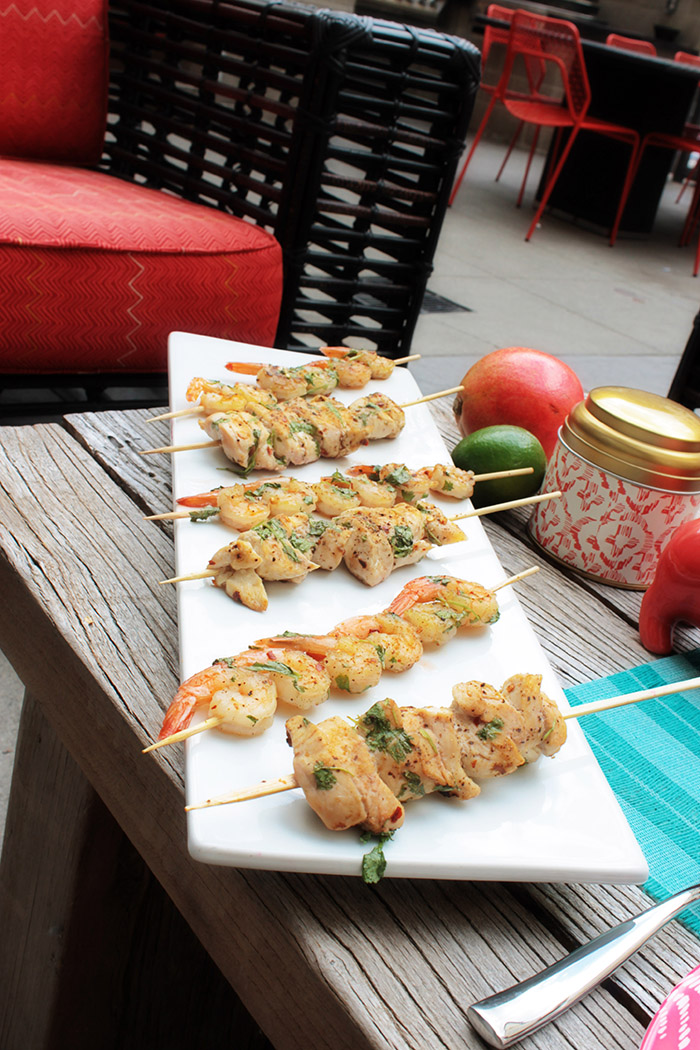 Summer Grilled PAMA Lime Shrimp And Chicken Skewers - B. Lovely Events