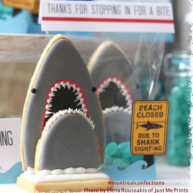 Woah! These 3d Shark cookies are awesome!