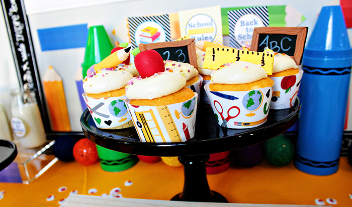 School Themed Cupcakes - Cute For Back To School!