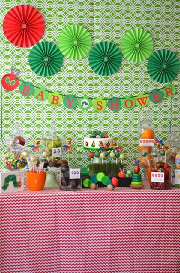 Very Hungry Caterpillar Baby Shower Party! So cute!