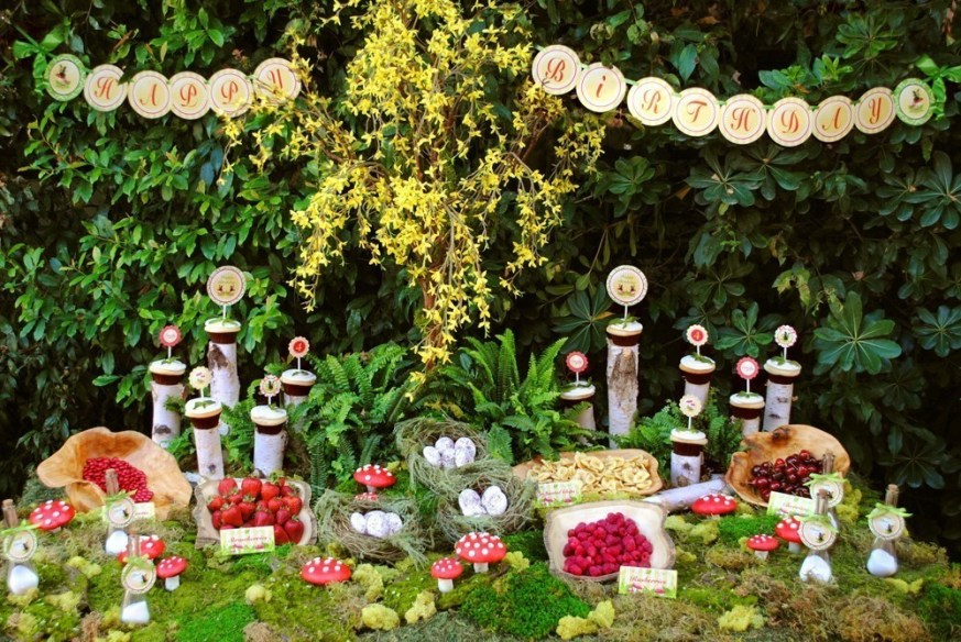 Amazing Woodland Party desser bar!