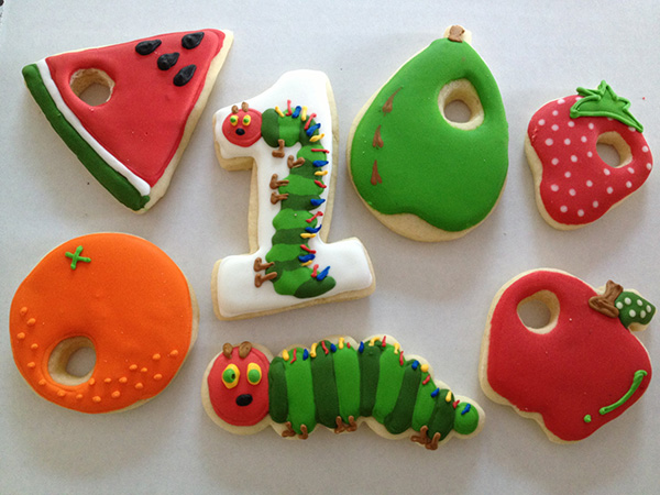 Love these very hungry caterpillar cookies!