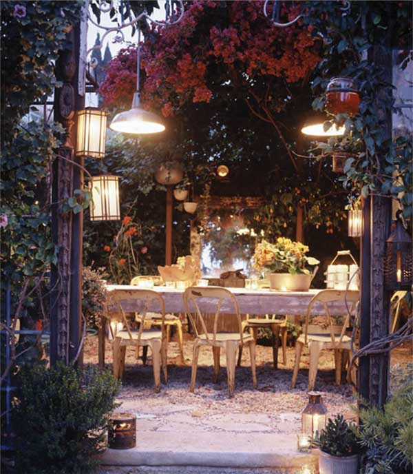 Outdoor eclectic-patio-perfect for dinner parties