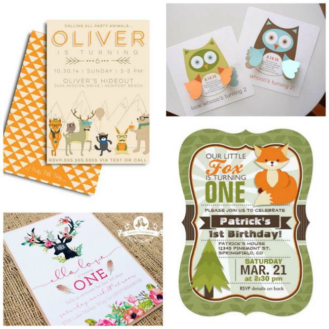 Lovely Woodland Party Invitations!