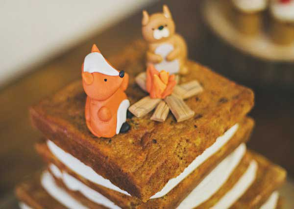 This square woodland cake is to die for!