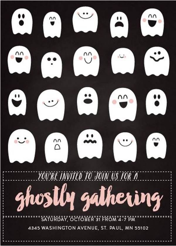 Ghostly halloween Invitations