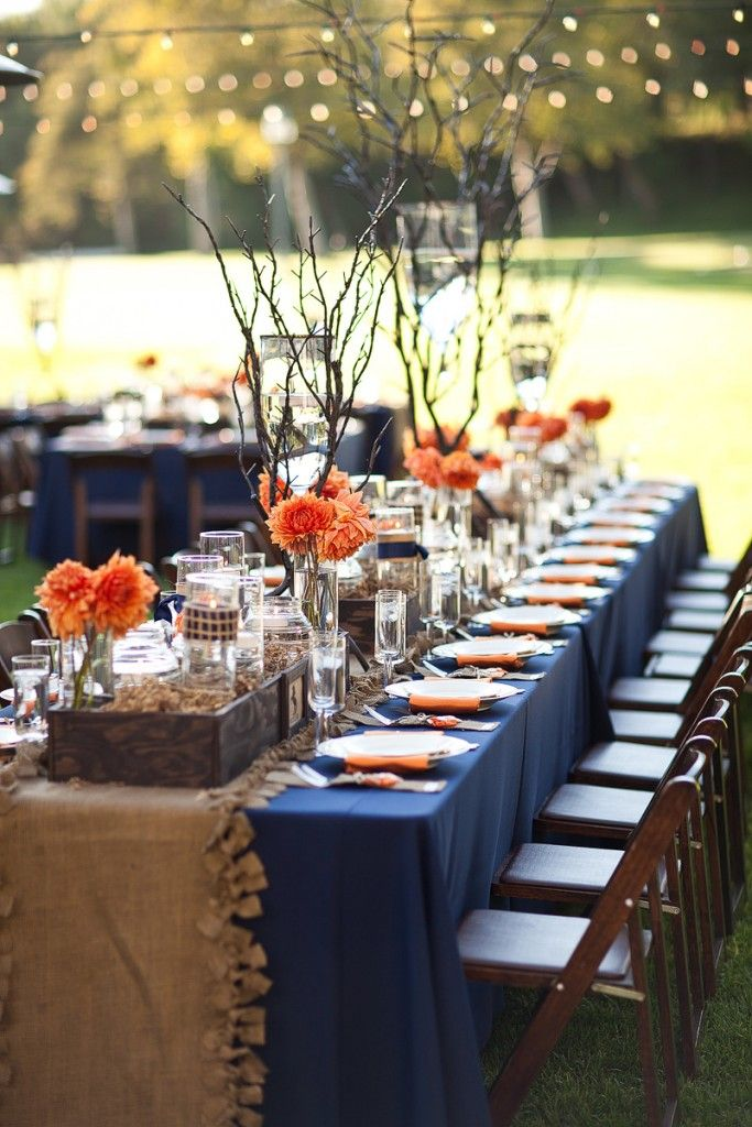 10 lovely fall wedding centerpieces b lovely events love the dahlias in this lovely fall wedding junglespirit Images