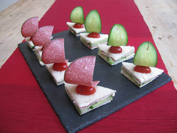 Sailboat sandwiches, so cute!