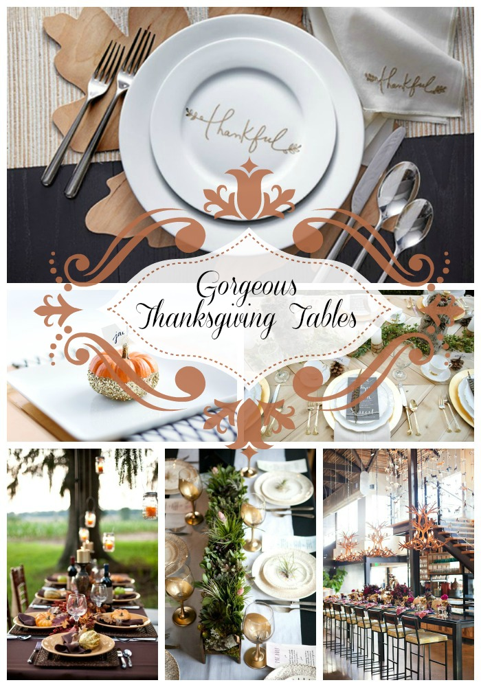 Gorgeous Thanksgiving Tables & Place Settings - B. Lovely Events