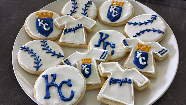 Royals wolrd series baseball party cookies!