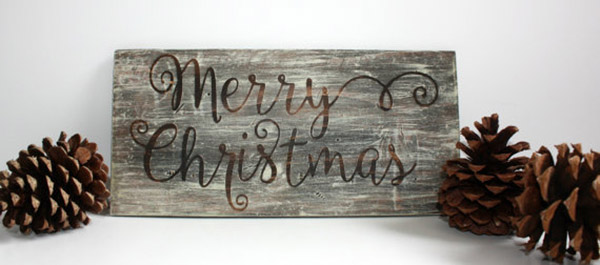 Rustic Christmas Signs We Love! - B. Lovely Events