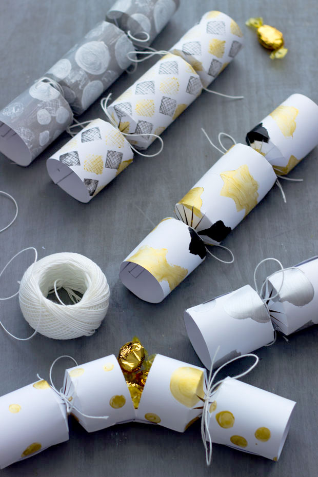 Lovely Patterned DIY New Years Crackers