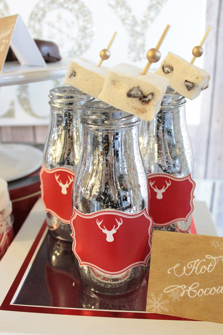 Mercury Glass Milk Jugs For Hot Cocoa- What A Lovely Look! - B. Lovely Events