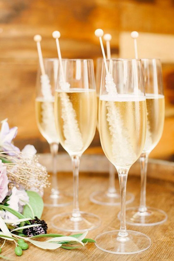 Champagne & Rock Candy- Perfect for celebrations!