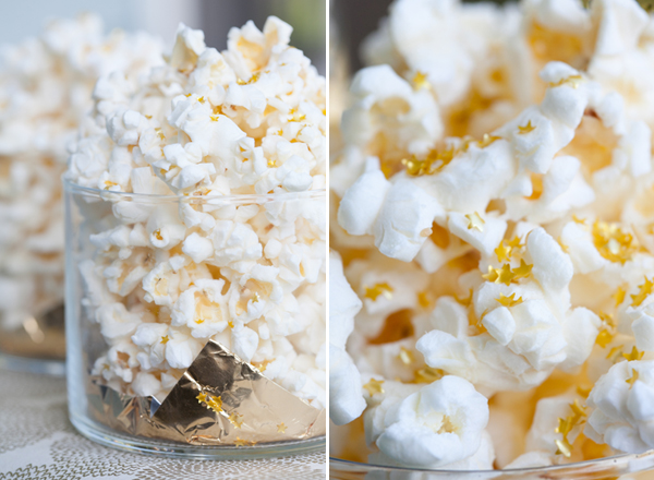 Ediable Gold popcorn-perfect for movie, oscar or golden globe parties